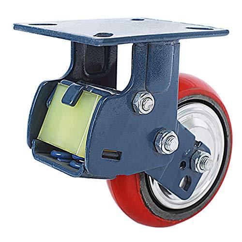 ZXL (1 veer schokdemper wielen 5 inch zware rollen industriële rollen 6 inch ijzeren kern polyurethaan universele wieluitrusting instrument rollen