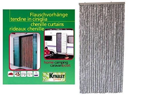 Unbekannt Flauschvorhang 90 x 200 cm Chenille Türvorhang grau Vorhang