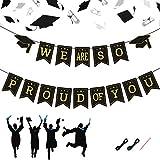 KATOOM Banner de Graduación en 2020 Pancartas de Fiesta de Graduación,Felicitar Graduación para Suministros de Decoración Porche de Graduación Fondo de Foto Diploma de Escuela Secundaria,Universidad