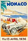 Poster 40 x 60 cm: Großer Preis von Monaco 1936