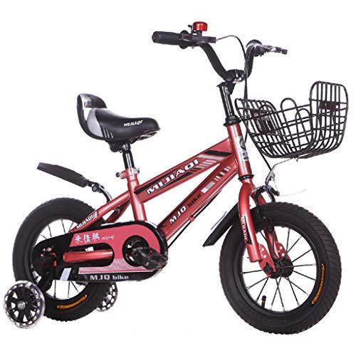 Bicicleta para niños de 2 a 8 años con Rueda de Entrenamiento Flash Bicicleta para niños y niñas Bicicleta para niños de 12/14/16/18 Pulgadas con Freno