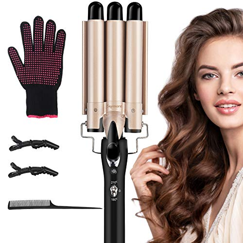 Skymore Hair Curling Iron 3 Barrel, Hair Crimper with...