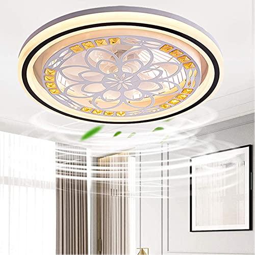 LED Ventilador Luz De Techo Lámpara del Ventilador Regulable Invisible Ventilador De Techo con Iluminación Luz Ajustable Velocidad con Control Remoto Sala Dormitorio