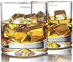 Syanka Glass Whiskey Glass - 6 Pieces, Transparent, 310ml