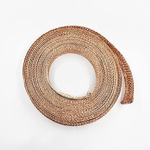 HIXISTO Cable Sleeves,Cubre Cables 10M Copper Shield Network 2MM-20mm Manga de Cable Trenzado Anti-interferencia for la Funda de Metal de Altavoz de Audio de energía Organizador Cables (Color : 6mm)