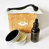 adshi Rapid Beard Growth,Men Beard Kit Gift Grooming Trimming Set Shampoo Growth Oil Wax Comb,Gift for Beard Men