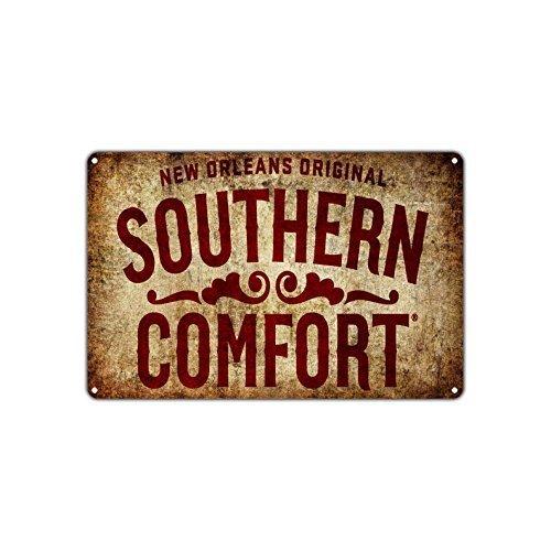 Monsety Funny Plaque en métal New Orleans Original Southern Comfort Décoration Caution Pancarte Plaque