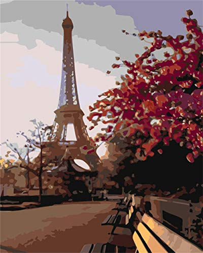 ZTCLXJ Rompecabezas 70 Piezas para Niños Niñas 70 Piezas Niños Art Painting Puzzle Madera Torre Eiffel Educativo para Niños para Los Mejores Regalos Niñas Y Niños (20 × 15 Cm)