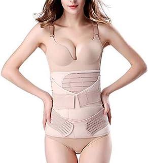 HOMWE 3 in 1 Postpartum Support Recovery Belly Wrap Waist/Pelvis Belt Body Shaper Postnatal Shapewear