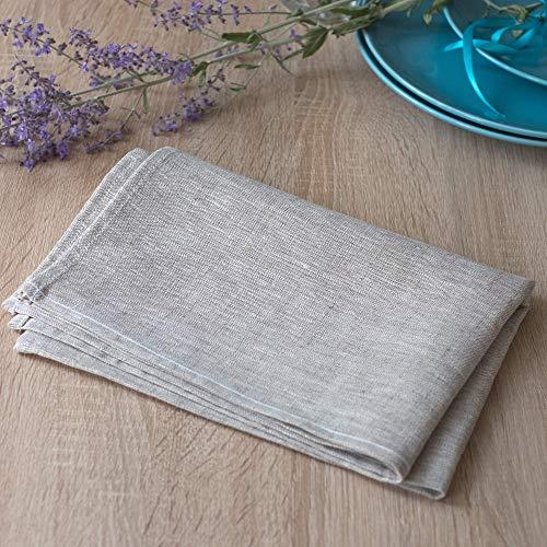 2-er Pack Leinen Geschirrtücher - Küchentücher - 100% Leinen - 50 x 70 cm - Natur Beige