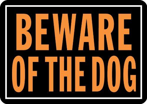 Hy-Ko Products 838 Beware of Dog Aluminum Sign 9.25' x 14' Orange/Black, 1 Piece