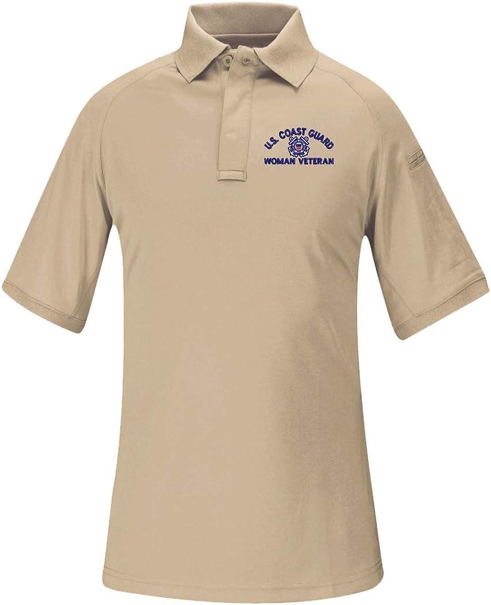 U.S. Coast Guard Woman Veteran Women's Snag Free Tactical Polo Shirt