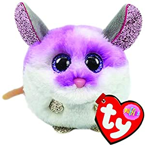 TY UK Ltd- Colby Mouse Puffies Peluche, Multicolor, 7 cm (42505)