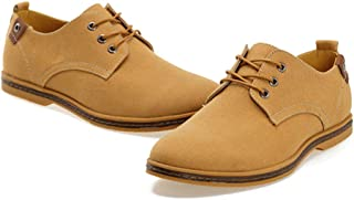 Yong Ding Men's Lace-up Canvas Shoes Casual British Fashion Suede Sneakers Oxford Low Top Seasons Shoes