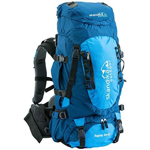 skandika Outdoor Sac à Dos de randonnée Bogong Bleu Marineblau/Blau 55 x 27 x 22 cm, 45 Liter