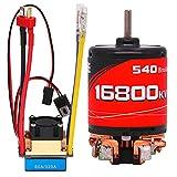 woyada Control remoto del motor de coche de carreras bidireccionales 60A/320A ajuste y 27T/16800kv Motor Set para coche RC cepillado impermeable a prueba de salpicaduras