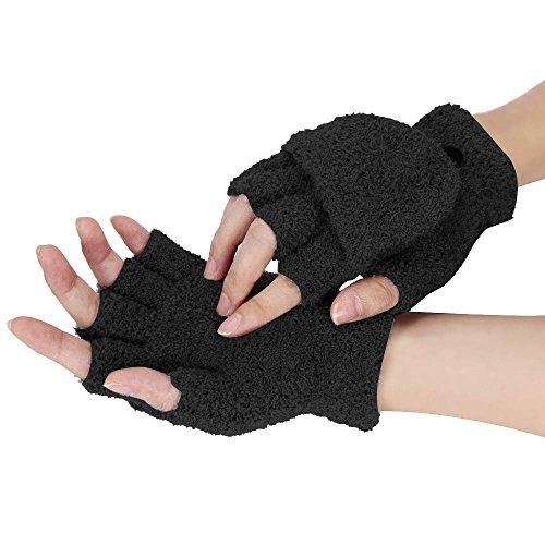 OSYARD Damen Strickhandschuhe Fäustlinge Halbfinger Handschuhe Wollhandschuhe Winterhandschuhe Hand-stulpen Pulswärmer, Mädchen Frauen Kurz-Stulpen Hand Wrist Wärmer Winter Fingerlose Handschuhe