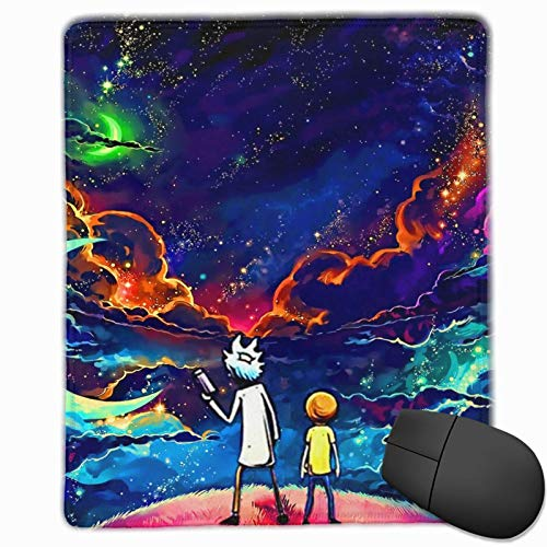 Rick and Morty Sky Star Mouse Pad with Stitched Edge Waterproof Non-Slip Rubber Base Mousepad Superfine Textured for Computers, Laptop, Gaming, Office & Home