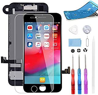 """BeeFix Screen Replacement for iPhone 7 Black, 4.7"""" LCD Display and 3D Touch Digitizer Full Assembly, with Proximity Sensor..."""