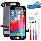 BeeFix Screen Replacement for iPhone 7 Black, 4.7' LCD Display and 3D Touch Digitizer Full Assembly, with Proximity Sensor,Front Facing Camera,Earpiece Speaker and Repair Tools,for A1660, A1778, A1779