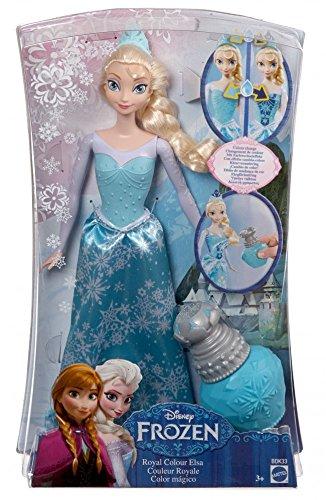 La Reine des Neiges - BDK - Poupée Mannequin - Princesse Elsa Couleur Royale - Frozen