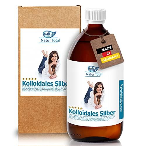 Kolloidales Silber 1000ml Hochrein mit 100ppm - hochwertige Braunglasflasche
