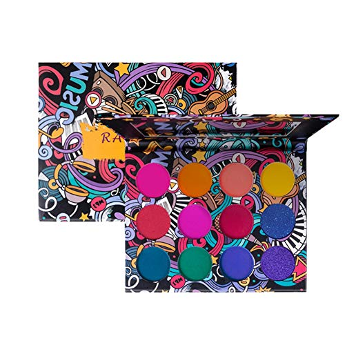 ARTIFUN 12 Farben Lidschatten Palette Hochpigment Warme Farbe Heller Lidschatten Geeignet für...