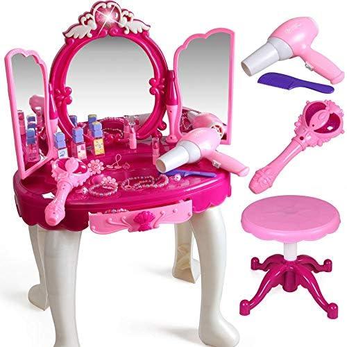FANG1106 Baukasten Bauen Sie auf und Spielen Sie lustiges S Kinder Eitelkeitstisch und Pretend Play Beauty Play Set mit Mode & Make-up-Zubeh Baue und Spiele lustige Spielzeuge für Kinder