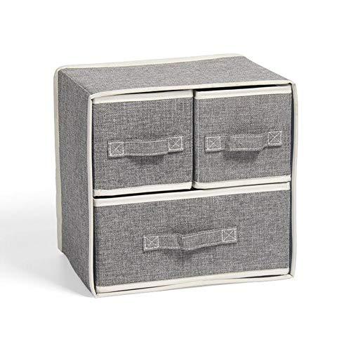 lossomly Armario Caja plegable con tapa de algodón y lino Caja de almacenamiento para el hogar Caja plegable para almacenamiento y organización Sweet etie, Gris