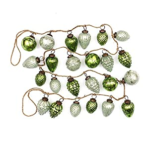 "Creative Co-Op XM1421 Winter Wonderland 72"" L Mercury Glass Ornament Garland, Mint/Green At Creative Co-Op, passion is at the heart of all we do - passion for Product, passion for quality, and passion for customer success. It is this passion that gre..."