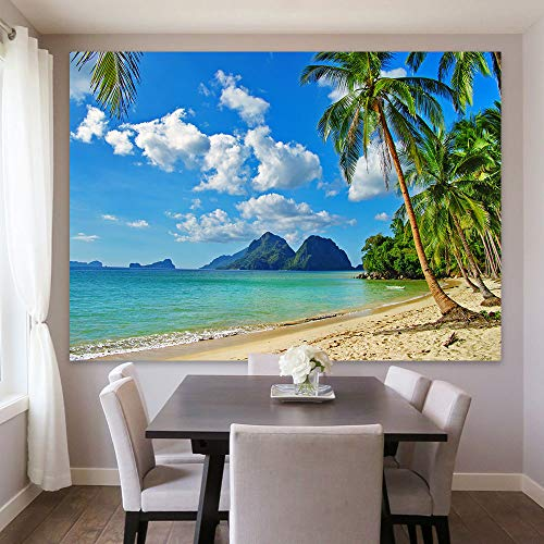 Maijoeyy 7x5ft Beach Backdrop Tropical Backdrop Tropical Beach Backdrop Beach Backdrops for Photography Summer Beach Decorations for Party