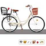 ZRN Classic Ladies 24/26'Wheel Single Speed ​​mit Kindersitzrahmen Traditionelles Fahrrad Fahrrad