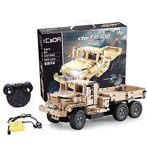 MODELTRONIC Nuevo Camión Radio Control Militar USA Army de Bloques de construcción 545 Piezas Tipo technic Piezas de construcción C51042W