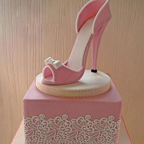 Juego de 9 moldes para fondant y pasteles, diseño de zapatos de tacón alto.