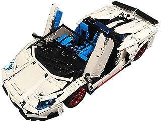 3556 Building Block Veneno Lamborghinis Aventador SVJ Roadster Function Car, MOC-17698 Technic Super Racing RC Car Kit, Mo...
