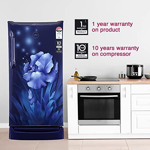 Godrej 185 L 4 Star Inverter Direct-Cool Single Door Refrigerator (RD UNO 1854 PTI AQ BL, Aqua Blue) 6