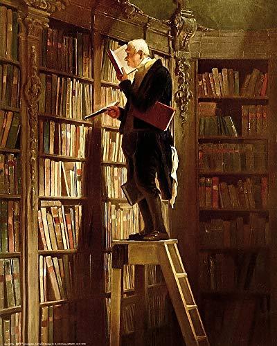 1art1 Carl Spitzweg - Der Bücherwurm, 1850 Poster Kunstdruck 50 x 40 cm