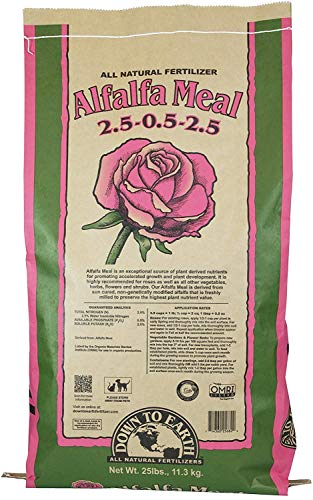 Product Image of the Down To Earth Organic Alfalfa Meal Fertilizer Mix 2.5-0.5-2.5, 25 lb (Singlе расk, Brown/a)