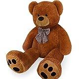 Deuba Oso de Peluche Gigante Marrón XL 100 cm Osito Suave y cariñoso para niños y Adultos - Regalo Colores realistas
