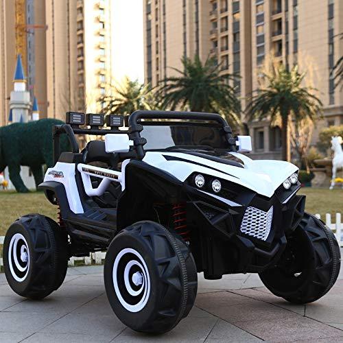 GT-LUX Moto Motore Auto Macchina ELETTRICA ATV Automobile Sport con MP3 USB Telecomando Genitori 4 Motori 12V (Bianco)