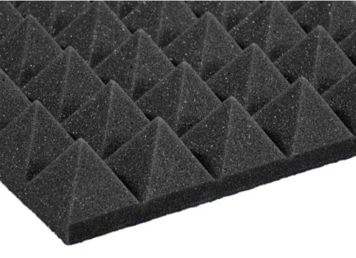 12 Pack of (12x12x2) Inch Acoustical Pyramid Foam Panel for Soundproofing Studio & Home Theater-Charcoal Grey by ShopBox