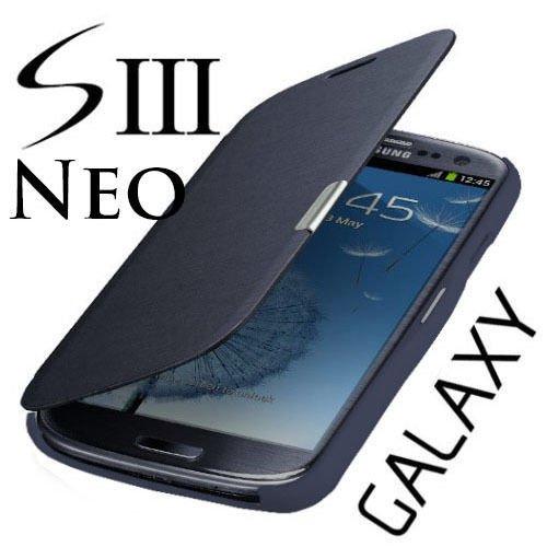 betterfon Samsung Galaxy S3 I9300 / S3 LTE I9305 / S3 Neo I9301 Flip Cover Dunkelblau Hülle Tasche Akkudeckel Flip Case