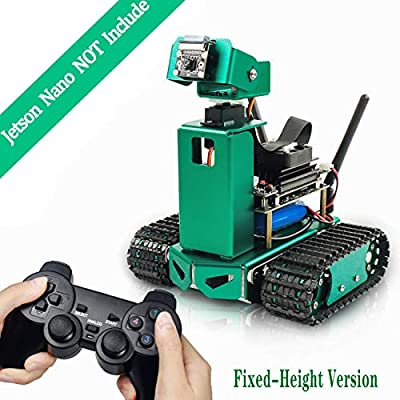 Yahboom-Maker AI Robot for Jetson Nano Jetbot Artificial Intelligence Vision Self-Driving Robotice Python Kit for Adults?Fixed-Height Version? (Jetson Nano NOT Include)