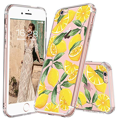 MOSNOVO iPhone 6S Case/iPhone 6 Case, Lemon Fruit Pattern Clear Design Printed Transparent Plastic Back Hard Case with TPU Bumper Protective Case Cover for Apple iPhone 6/iPhone 6S