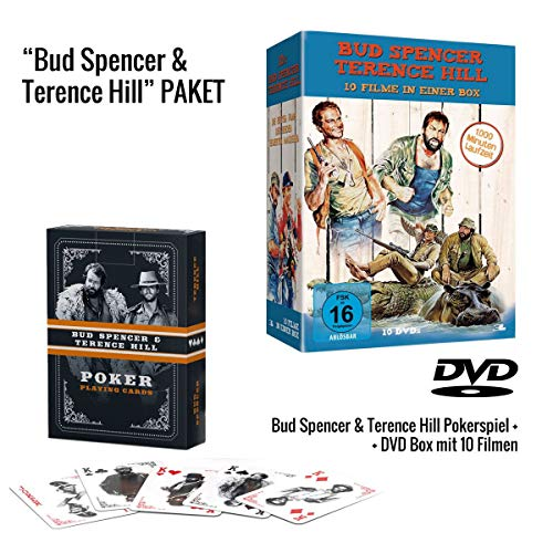 Bud Spencer & Terence Hill 10er DVD-Box + Bud Spencer & Terence Hill Pokerkarten