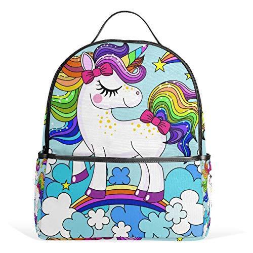 Baby Einhorn Regenbogen Haarfarbe Rucksack Rucksack Perfekte Schulreise Kindertagesstätte für Teen Boys Girls