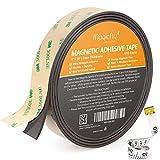 Magicfly Bande Magnétique Adhésive Puissante Aimantée Autocollante 4.5m x 25mm x 2mm pour Organiser Projets d'Artisanat et de...
