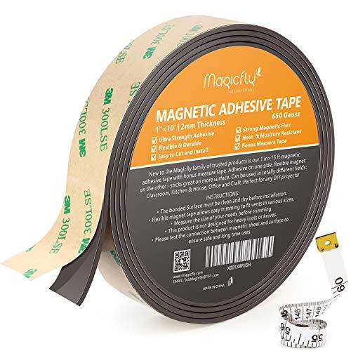 Magicfly Magnetband selbstklebend Profi Magnet-Klebeband Magnetisches Tape, 2mm x 25mm x 4,5m