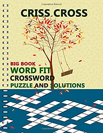 Happy Holidays Criss Cross Puzzle Book Gift Larg-Print 600 Words Happy New Year Games Brain Crossword for adults and kids
