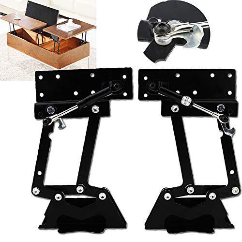 Bisagra de Mesa Elevadora, Bisagra de Mesa para Café 1 par Plegable Mesa Elevadora de Café Mecanismo Ajuste de Hardware,bisagra de mesa para accesorios de muebles
